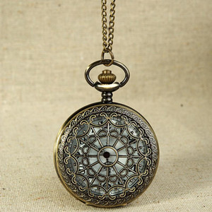Fob Watches Vintage Bronze Tone Spider Web Design Chain Pendant Life waterproof Men's Pocket Watch birthday anniversary Gift #5