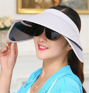 New Summer Fashion Visors Women Colorful Caps Anti UV Protection Sun Hats Girls Woman Sun Caps Cloth Beach Hats on Sale