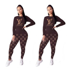 Wholesale new fashion sporty national print short sleeve T shirt women tracksuits pencil long pants two pieces sets Sports suit outfit S XL