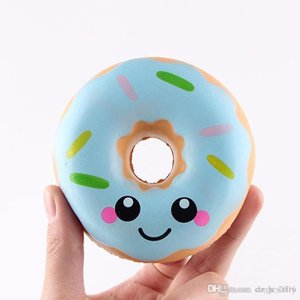 Wholesale Cute Squishy Emoji Doughnut Toys Kawaii Smile Face Slow Rising Squishies Donut Jumbo Squeeze Phone Strap Stress Reliever Decompression Toys