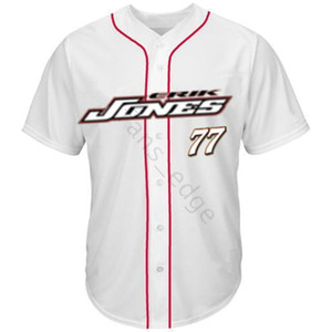 Wholesale flags checkered for sale - Group buy Cheap CHECKERED FLAG ERIK JONES BASEBALL JERSEY Red White Mens Stitched Jerseys Shirts Size S XXXL