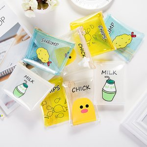 new creative small fresh purse transparent PVC zero purse mini cute candy color girls snack coin bag