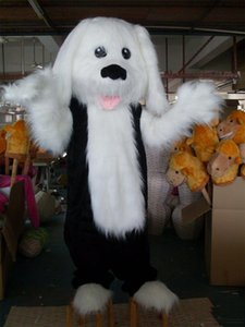 Wholesale 2019 Factory Outlets Good vision good Ventilation long furry hair puppy dog mascot costume for adult to wear