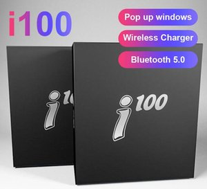 Wholesale i100 TWS Pop up Window After Open Cap Support Wireless Charging High Quality Same Size Upgrade i12 i18 i9s