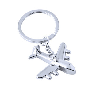 6PCS Chic Metal Creative Sophisticated Fashion Key Holder Car Key Ring Pendant Airplane Keychain for Handbag Bag Charm Men