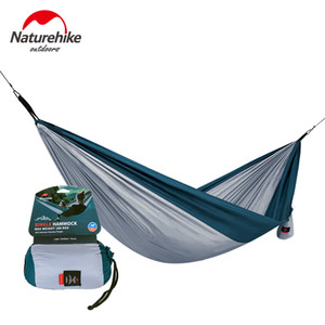 Wholesale Naturehike Outdoor Camping Hammock Parachute Fabric Ultralight Portable Hiking Hanging Tent Bed Sleeping Picnic Hammocks Swing