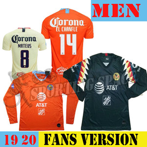 Wholesale 2019 LIGA MX Club America soccer Jerseys Long sleeve America team P AGUILAR Football shirt uniform football shirts