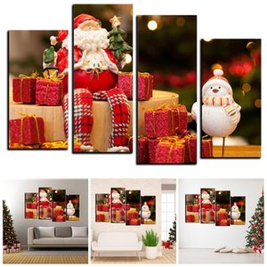 Wholesale Christmas Hanging Painting Art on Canvas Painting Wall Art Picture Prints Decor Frame Mural Core M1118