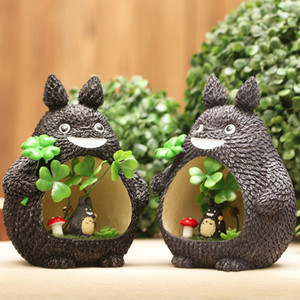 Wholesale Cartoon Totoro Piggy Bank Childrens Money Coin Storage Bank Smiling Face Totoro Desk Lamp Pieces ePacket