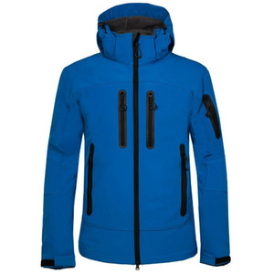 Men Outdoor Jacket Solid Breathable Windproof Hiking Camping Softshell Jacket Solid Hooded Sports Running Coats Mens Jacket 05