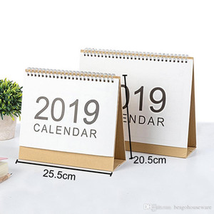 Wholesale Large Size cm Calendar Office Desktop White Stand Simple Writable Weekly Planner Monthly List Plan Daily Calendar BH0645 TQQ