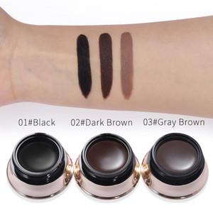 Wholesale Factory DHL Free Color Bell Shaped Eyebrow Gel Eye Makeup Long Lasting Eyes Brow Hair Tattoo Tint Cream Waterproof dying Enhance with Brush