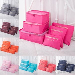 Wholesale 6 Set Travel makeup bag Home Luggage Storage Clothes Storage Organizer Portable Cosmetic Bags Bra Underwear Pouch Storage Bags kids toys