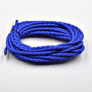 Wholesale FLTMRH mm Round Braided PU Leather Cord String Rope For Fashion Jewelry Making DIY Necklace Bracelets Accessory