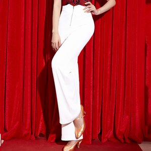 Wholesale Fashion Latin Dance Pants Adult Female White Trousers Ladies Modern Ballroom Tango Salsa Samba Practice Dancing Clothes DWY2082