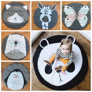 Wholesale baby crawling blankets resale online - 15 Styles Baby Creeping Mats Fox Deer Unicorn Lion Swan Animals Play Game Mat Decorative Crawling Blanket Kids Room Floor Carpets DBC DH0749