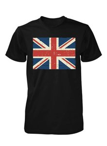 Wholesale BNWT GREAT BRITISH UNION JACK FLAG ENGLAND DISTRESSED PRINT ADULT T SHIRT S XXL