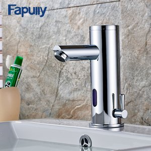Wholesale Fapully Bath Basin Faucet Hot Cold Water Taps Automatic Hands Touch Infrared Sensor Faucet Bathroom Sink