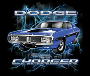 Wholesale Dodge Charger American Muscle Car Lightning Classic Hot Rat Rod Auto T Shirt Tee