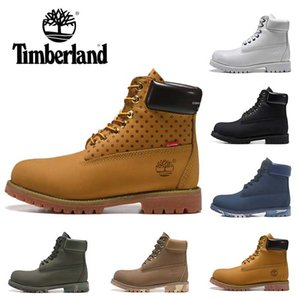 Wholesale 2019 Timberland boots designer boots for mens winter boots top quality womens Military Triple White Black Camo size