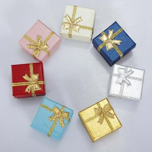 Wholesale 24pcs Pack Square Ring Necklace Earring Bracelet Wedding Date Jewelry Gift Box Delicate Solid Color Jewelry Box