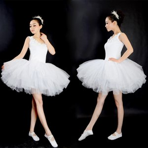 Wholesale New Professional Gymnastics Ballet Tutu Dress Swan Lake Adult Prom Party Costume Sling White Ballet Dress Tutu Woman Dancewear