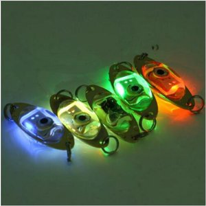 1pc Outdoor Fishing Light 6 cm 2.4 inch Flash Lamp LED Deep Drop Underwater Eye Shape Fishing Squid Fish Lure Light
