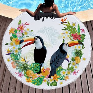 Wholesale Beach towel Blanket Shawl printing round multi functional beach towel cm Thickening and Increasing Adult Bath Towel