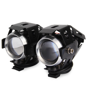 Wholesale 2PCS U5 Motorcycle V LED Headlight Laser Cannon Waterproof High Power Spot Light