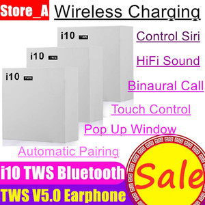 Wholesale NEW i10 i20 i30 i60 TWS wireless Bluetooth headsets headphone portable earphones pop up window earpiece for ios Android mobile cellphones