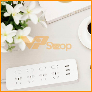 Wholesale Original Xiaomi Mi Power Strip Socket Plug Ports Sub Control Switch USB Jack Quick Charge Connector Outlet Extension Socket