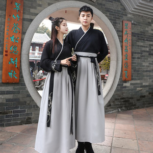 Wholesale Black Hanfu Dress Chinese Dance Costume Traditional Performance Clothing Han Dynasty Princess Classical Outfit Stage Performance