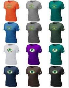 The new trend Green Bay Woman Packers Sideline Legend Pro Line by Fanatics Retro Polychrome Logo T-Shirts