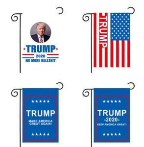 Wholesale 30 cm Donald John Trump Amercia Flags Polyester Head Metal Grommet Personality Decortive Trump Garden Flags Style