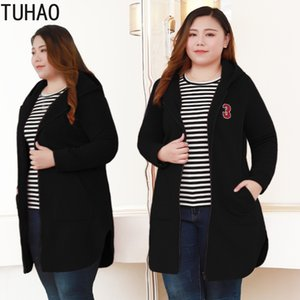 2019 Spring Mother long Trench Coat for Women Plus Size 10XL 8XL 6XL Long Casual Coats Womens Large Size HOODED Jacket MSFS on Sale