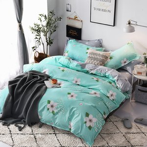 Wholesale Leaf flower Bedding Set twin full Quen King Size Flat Sheet Pillow Cases Nature Duvet Cover Quilt Cover Bed bedclothes