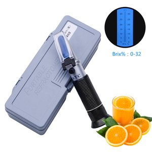 Package Mail Handheld Refractometer 0 to 32 Brix Sugar Meter Fruit Sugar Meter Saccharimeter Sugar Content Tester on Sale