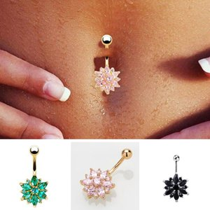 Hot Brand Dangle Belly Button Rings Barbell Sexy Surgical Steel Belly Piercing Navel Piercing body Navel Nail 8 Colors Free Shipping