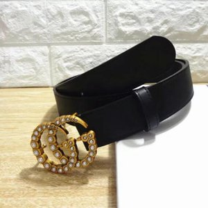 Wholesale Brand leather belt luxury for men and women pearl G buckle top fashion women leather belt designer belt free delivery
