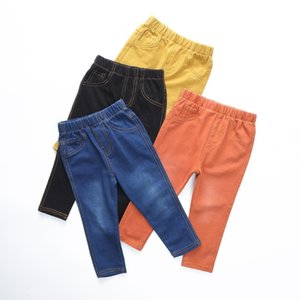 2019 Fashion Summer baby Girls Boys Jeans 4 Colors Children Kids Soft Denim Pants Girls Boys Clothes 12M-6T Hot Sale T191016 on Sale