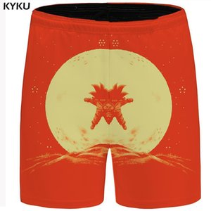 Wholesale Kyku Short Men Goku Sweat Shorts Cargo 2d Print Casual Short Moon Beachshort Mountain Red Mens Shorts Nice Summer