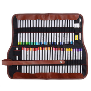 Wholesale 77Pcs Art Color Pencil Set with Supplies, Professional Portable Assorted Colored Drawing Pencil Kit with Roll Bag for Student, Kids & Adults