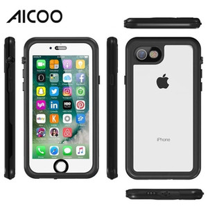 Wholesale AICOO Diving Outdoor Waterproof Mobile Phone Case Shockproof Dustproof Snowproof Full Protection Cover for iPhone X Plus OPP