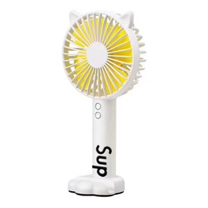 Free shipping Brand Sup mini fans Colorful fanshion portable small electric fans women lady mini fans with logo