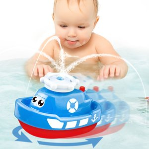 Wholesale Three Colors Electric Hydraulic Ship Baby Bath Toy Beiens Water Baby Floating Toy Bath Toys For Children Bathroom Toy New Year Gift