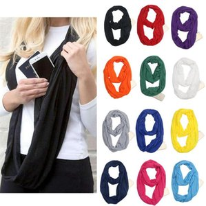 Wholesale cotton infinity scarves for sale - Group buy Women New Soft Scarf Pure Ring Wraps Shawl Signature Cotton Scarves Lady Scarves Neck Scarf Solid Infinity Scarves