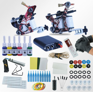 Wholesale Tattoo Machines Power Box Set guns Immortal Color Inks Supply Needles Accessories Kits Completed Tattoo Permanent Makeup Kit