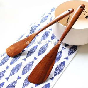 100pcs Natural Wooden Turner Long-handled Wood Shovel Spatula Rice Scoop Kitchen Utensil Cooking Tools For Pans