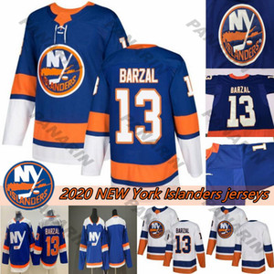 isleño de nueva york al por mayor-2020 New York Islanders alternativo Tercer Azul Mathew Barzal Jersey Anders Lee Denis Potvin los jerseys del hockey
