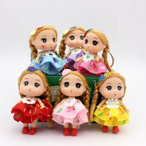 Wholesale 9CM flower skirt Princess bride confused doll fat baby key chain bag pendant wedding dress creative gift doll toy Send boyfriend and girlfri